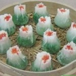 Steamed Open Dumplings/Sumai with Chinese Cabbage
