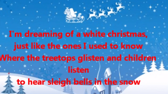 9 esl christmas songs to add some holiday fun to your for Dreaming of a white christmas lyrics