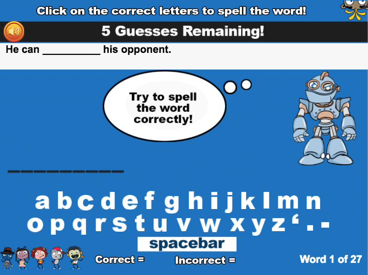 spelling-classroom-activity-module-example