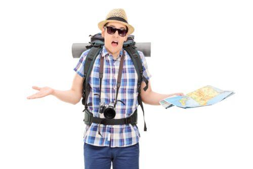 Lost tourist