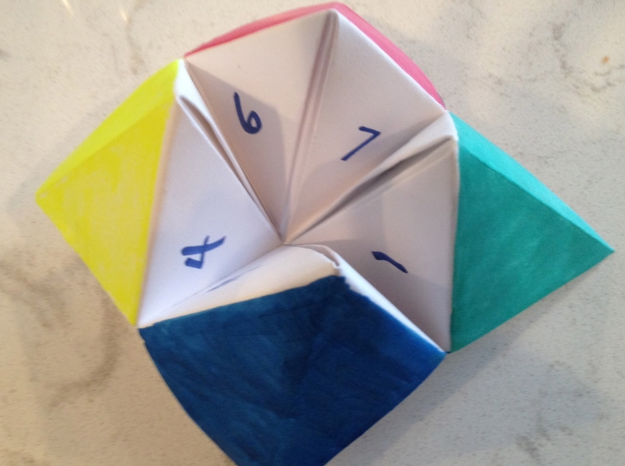 How To Make Origami Game Fortune Teller