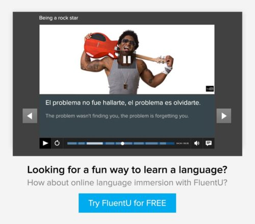 Learn a foreign language with videos