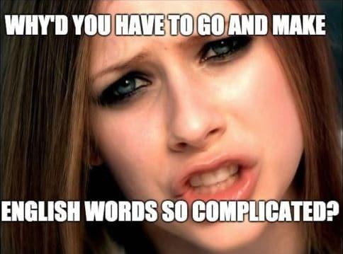неправильное произношение слов английского