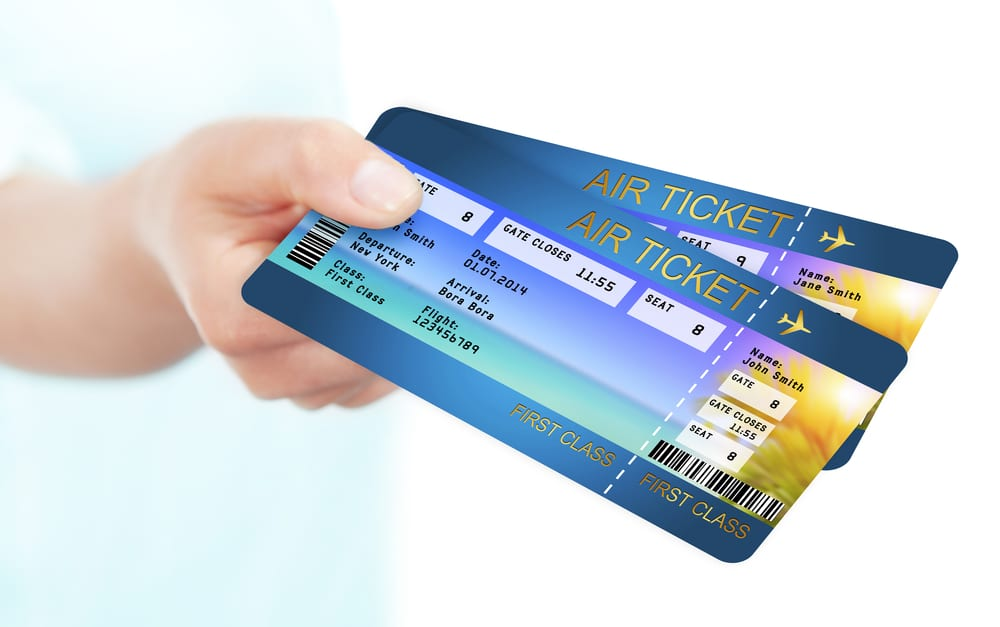 english vocabulary words airport ticket