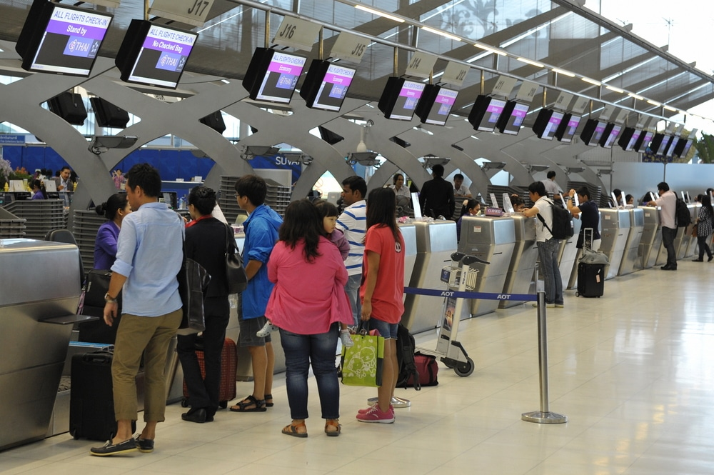 english vocabulary words airport  check in