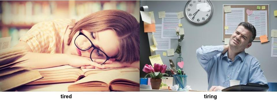common feelings mix-ups for english learners tired vs tiring