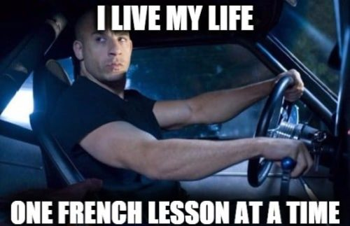 learn french in the car