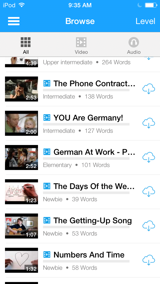 interesting German vocabulary words list