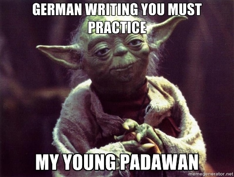 how to stop letting german writing practice slip through the cracks