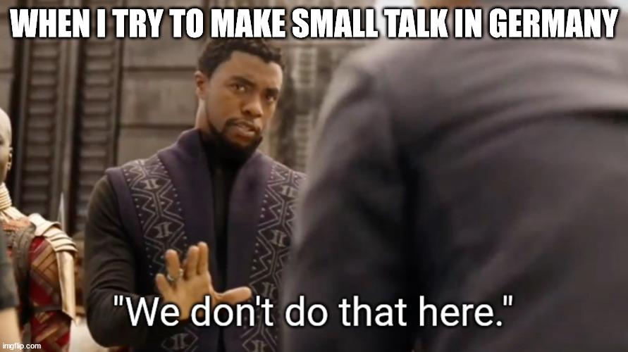 german small talk