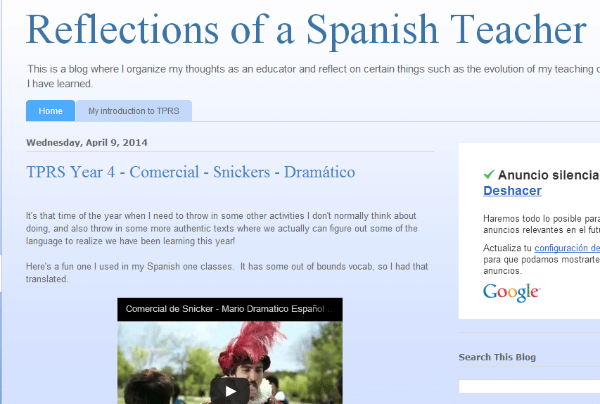 awesome blogs for spanish teachers