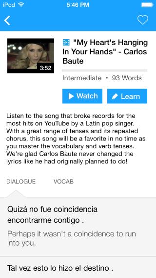 Interactive Transcripts on FluentU