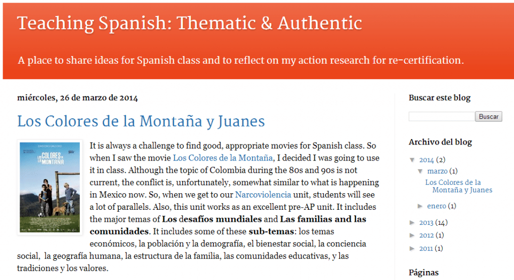 great blogs for spanish teachers