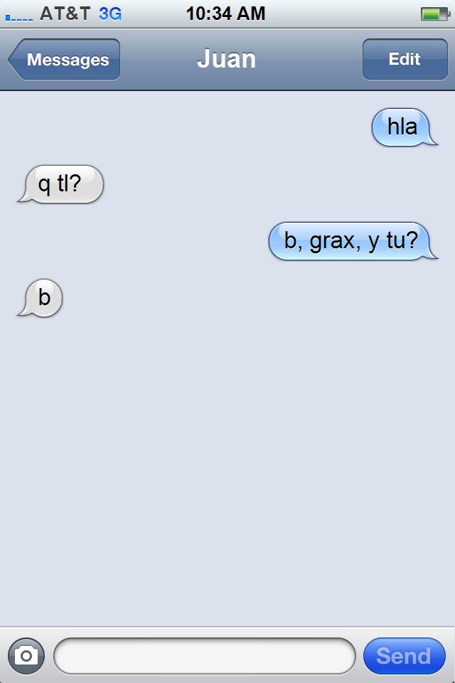 message ex 1