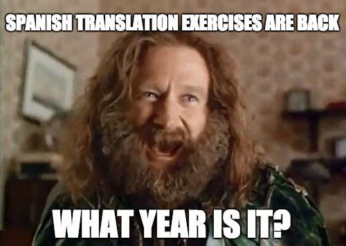 spanish-translation-exercises