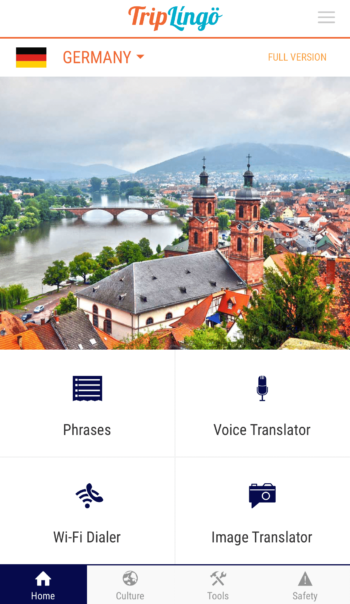 triplingo review homepage german